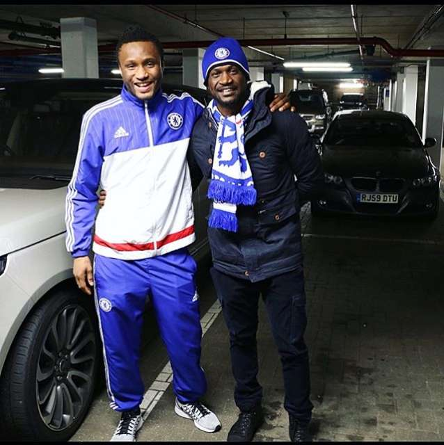 Peter Okoye Of Psquare Visits Stamford Bridge
