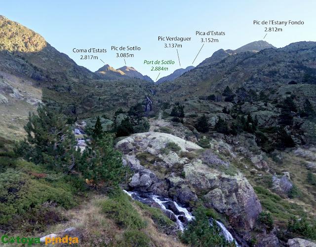 """Subida a la Pica d'Estats """"techo de Lleida y Cataluña"""" desde el aparcamiento de  La Molinassa."""