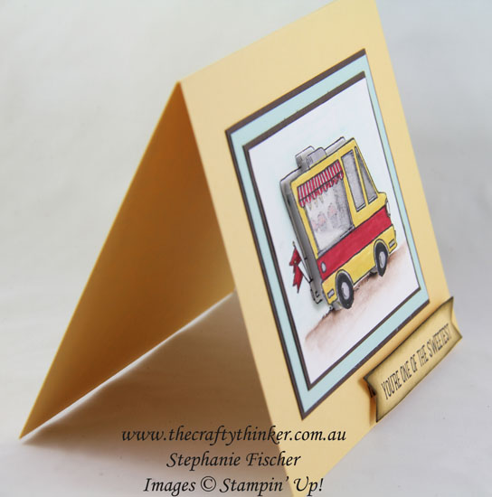 Sale-A-Bration, Tasty Trucks, Shaker Card, #thecraftythinker, www.thecraftythinker.com.au, Stampin Up Australia Demonstrator, Stephanie Fischer, Sydney NSW