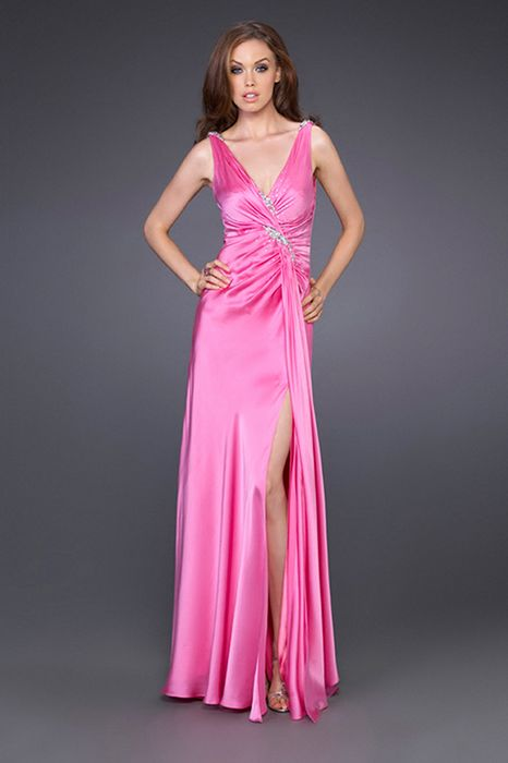 496f9d3b3c1d la femme Long Chiffon Gown is a colorful choice for your next formal or  semi-formal occasion. The dress is made of silk chiffon and features a  multi colored ...