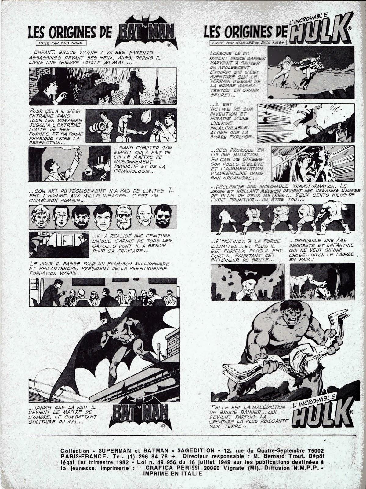 Le bd mag exhumator batman contre hulk - Batman contre joker ...