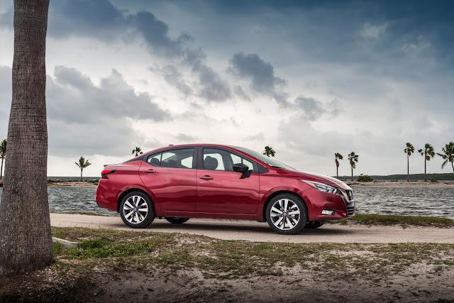 2020 Nissan Versa sedan - beach
