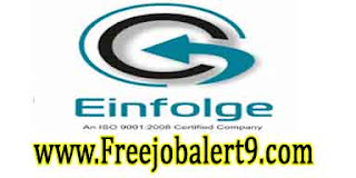 Einfolge Recruitment 2017 Jobs For Freshers Apply