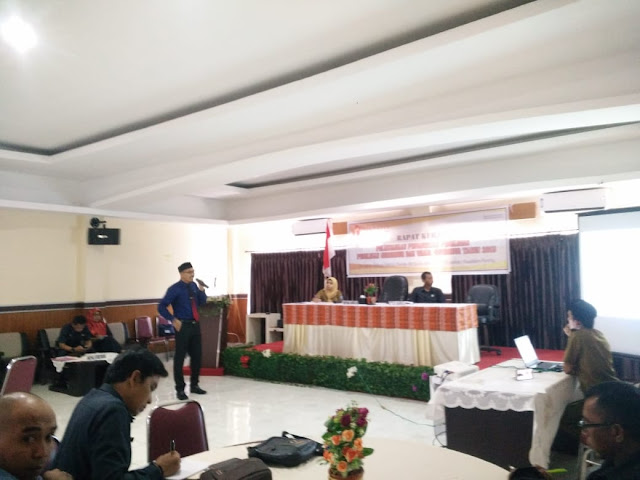 Panwaslu Soppeng Hadirkan Bawaslu Sebagai Pembicara di Rapat Kerja