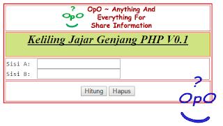 OpO - Menghitung Keliling Jajar Genjang Menggunakan PHP Dan HTML
