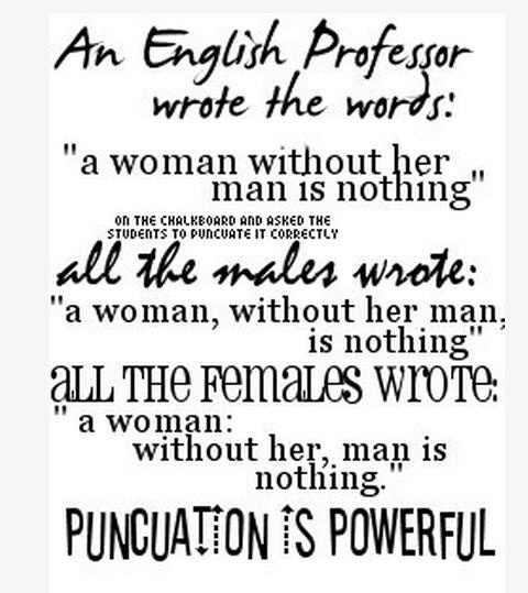 Man Woman Funny Quotes: Mad About ELT: Punctuation Power