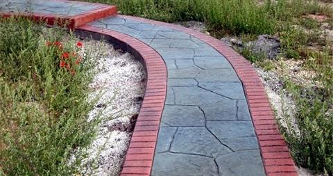 Декоративный бетон для дорожек купить бетон купить в павлодаре на