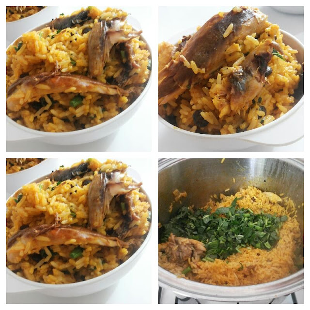 palm oil rice recipe collage