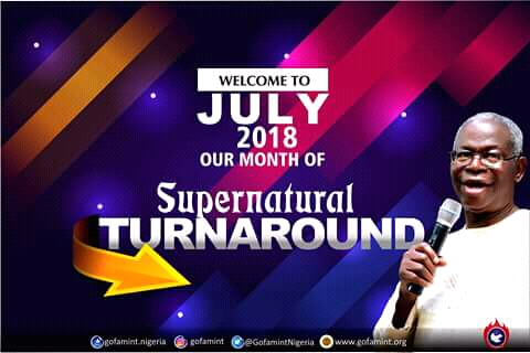 PROPHETIC DECLARATION FOR THE MONTH OF JULY 2018.