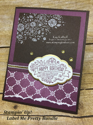 Stampin' Up! Label Me Pretty Bundle with Wood Words Pre Order Swap by Kay Kalthoff for Stamping to Share.