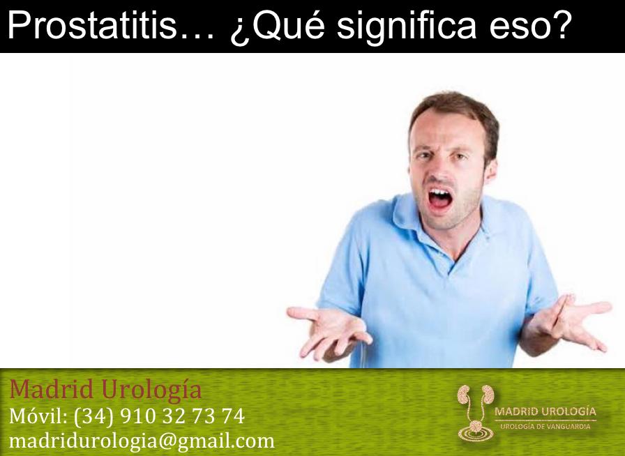 tipos de prostatitis no de emergencias