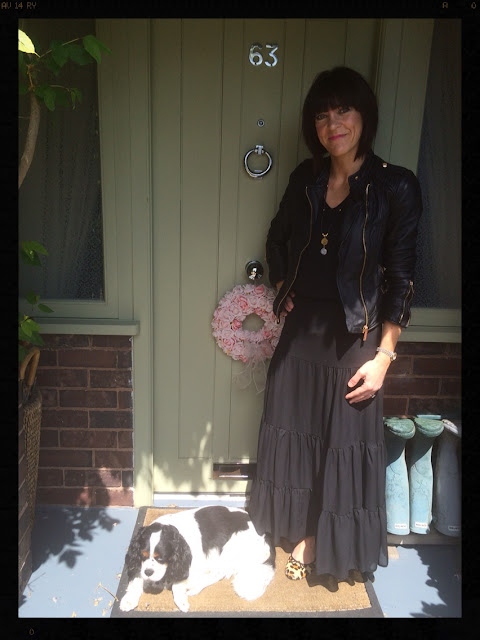 My Midlife Fashion, Biker Jacket, Maxi Skirt,  Ballet Pumps, Leopard Print, Animal Print, Mint Velvet, Zara