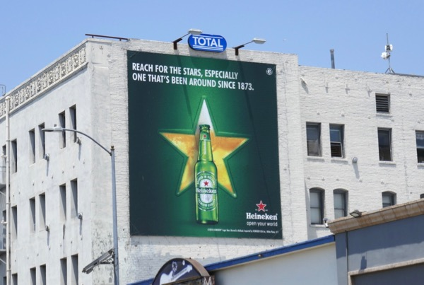 Heineken Reach for stars billboard