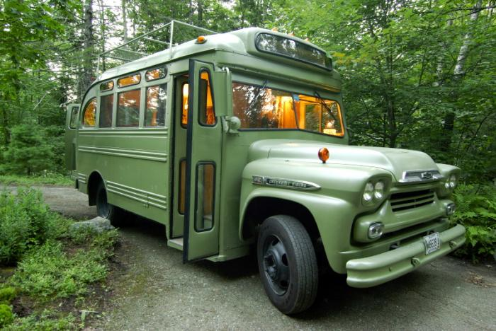 1959 Chev Bus Made Into A Mobile Home For Camping In Style