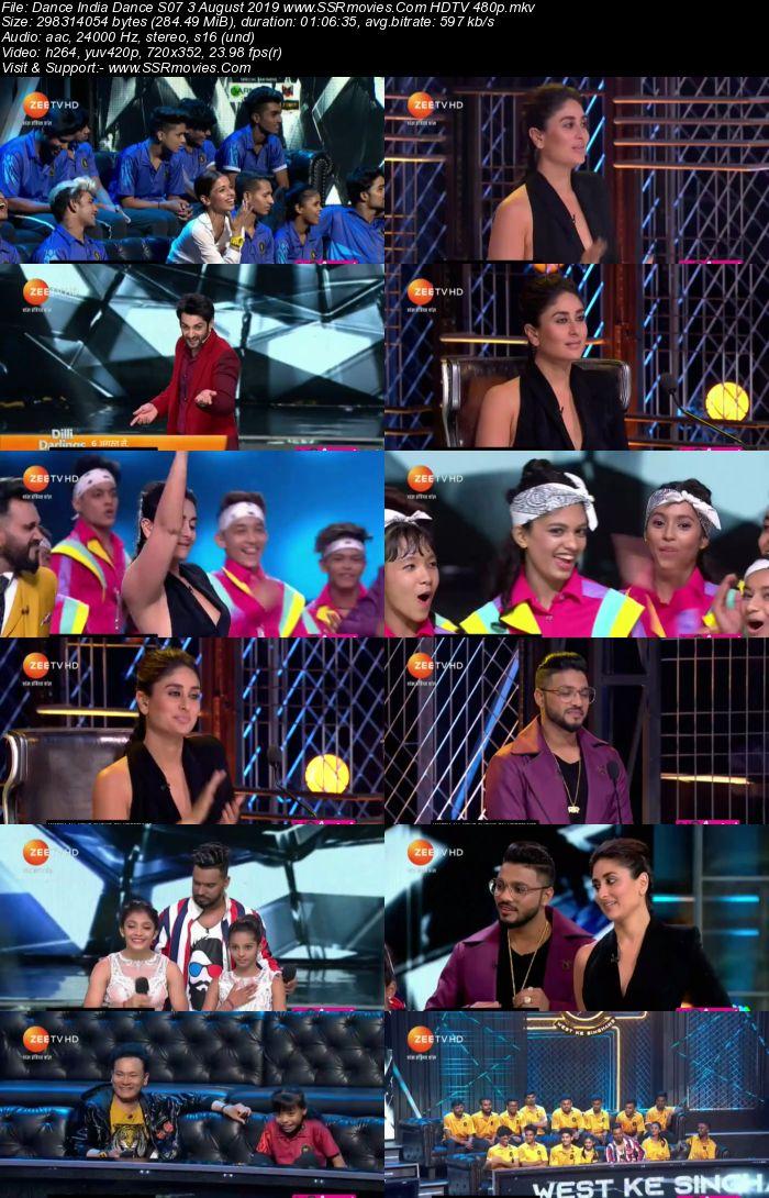 Dance India Dance S07 3 August 2019 HDTV 480p Full Show Download