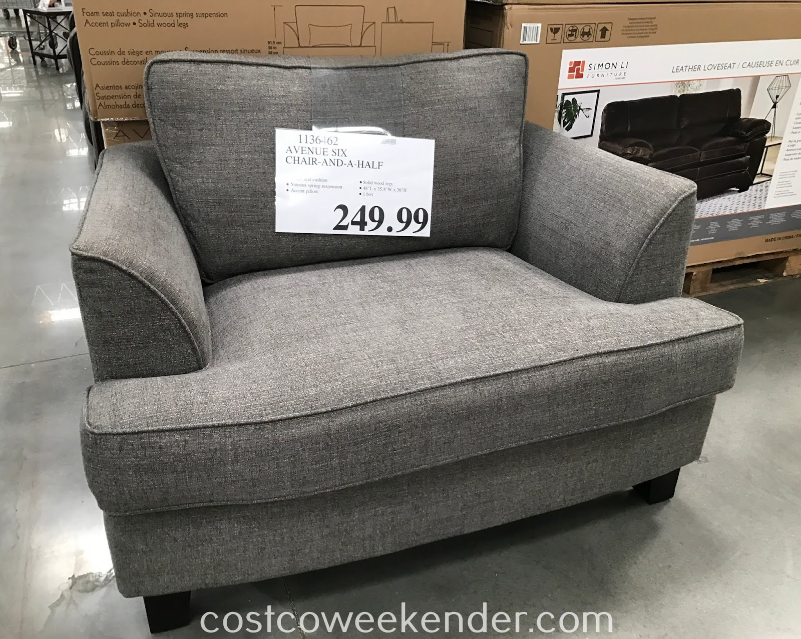Ave Six Chair Teak Chaise Lounge Chairs Avenue Fabric And A Half Costco Weekender Relax In Comfort On The