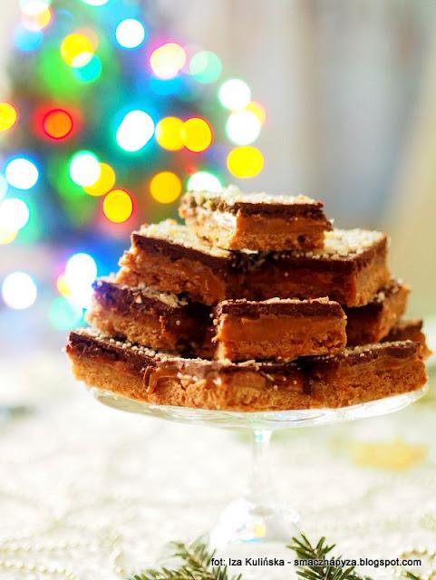 ciasto milionera, ciasto z karmelem i czekolada, z kajmakiem, kajmak, karmel, ciasto maslane, tlusty czwartek, karnawal