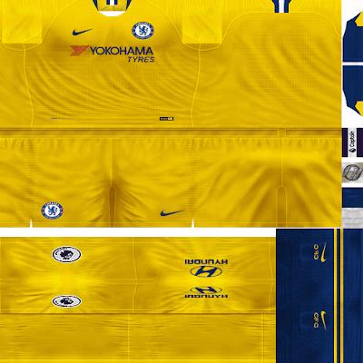 PES 6 Kits Chelsea FC Season 2018/2019 by FacaA/Ngel