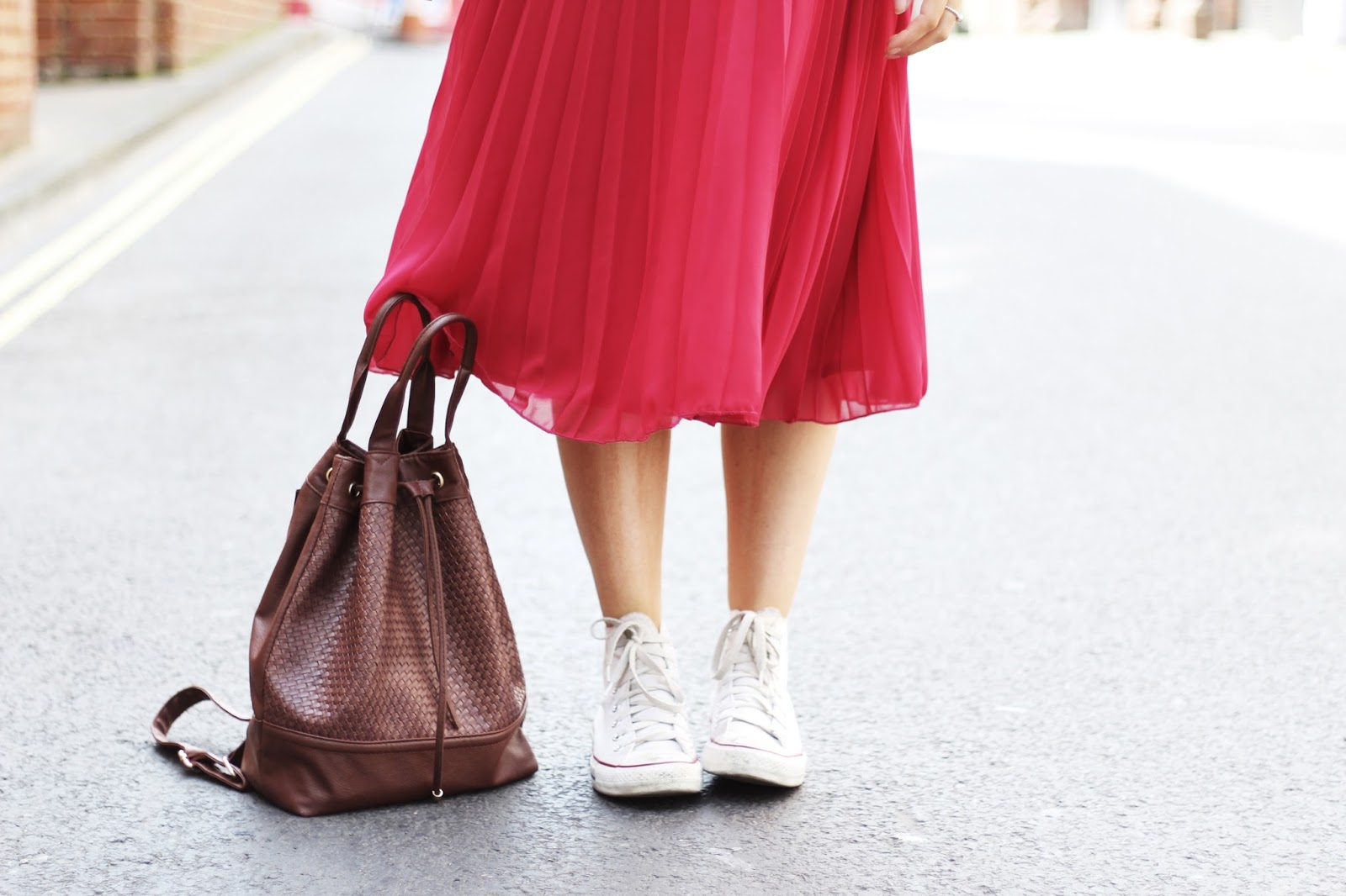 bomber jacket and midi skirt street style