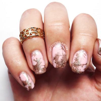 Spring Splatter Nail Art
