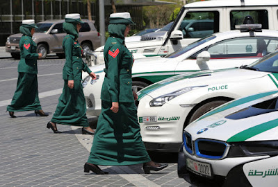 Dubai female police officers - Shariah style