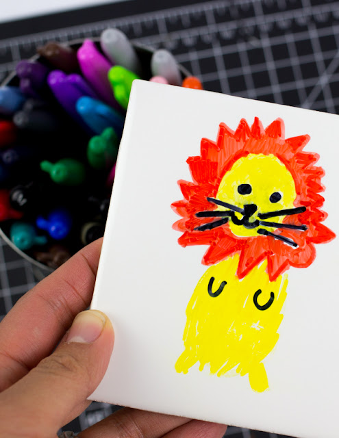 Easy Sharpie Tile Art with Kids