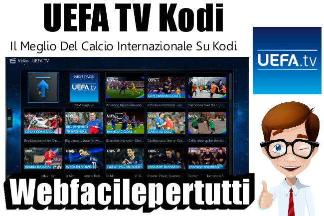 Uefa TV Addon | Guarda Il Meglio Del Calcio Internazionale Su Kodi