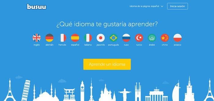 """Plataforma para estudiar idiomas """"Made in Spain"""", sólo tienes que registrarte para empezar. Además de los idiomas más """"comunes"""": inglés, francés y alemán, tienes disponibles muchos más: ruso, turco, chino, polaco, japonés, hasta un total de 12."""