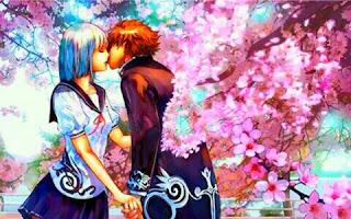 gambar anime ciuman romantis