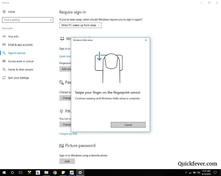 windows hello stopped working