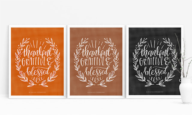 free printable thankful poster