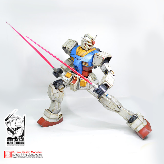 MEGA SIZE 1/48 RX-78-2 GUNDAM Custom Paint by Putra Shining