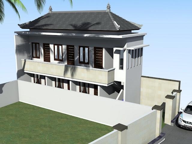Desain Rumah Kost Di Lahan Sempit Dua Lantai