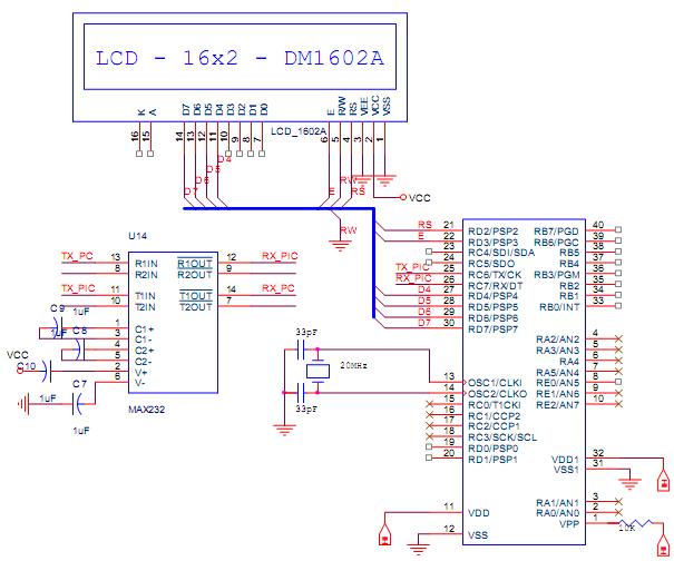 Code mẫu cho PIC - Truyền thông nối tiếp RS232 - Thiết Kế