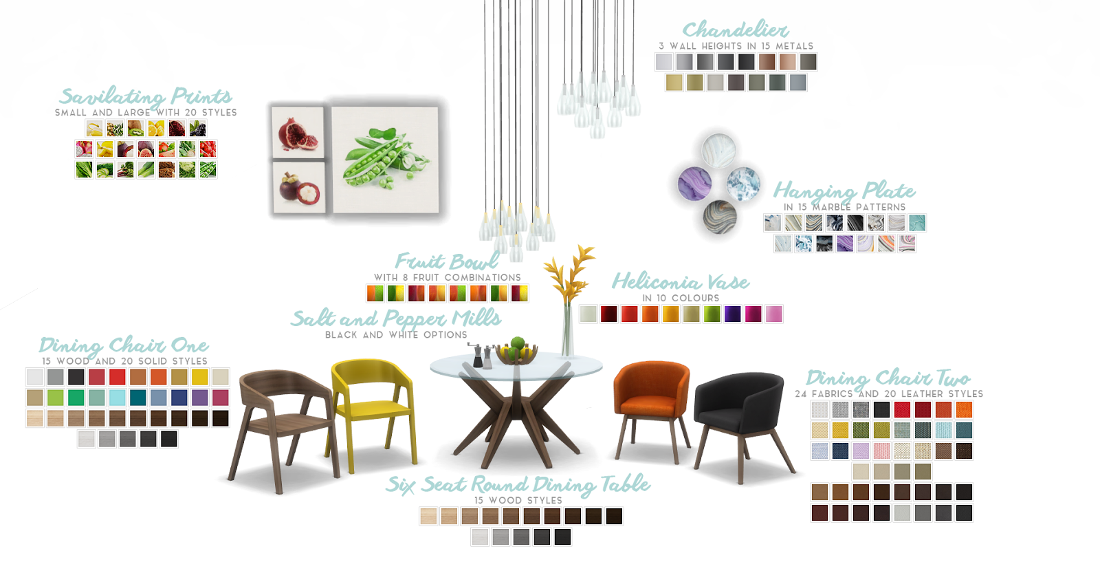 My Sims 4 Blog Atwood Dining Set Addon By Peacemaker Ic