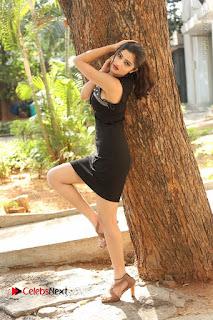 Actress Poojitha Pallavi Naidu Stills in Black Short Dress at Inkenti Nuvve Cheppu Movie Platinum Disc Function  0259.JPG