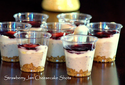 Strawberry Jam Cheesecake Shots