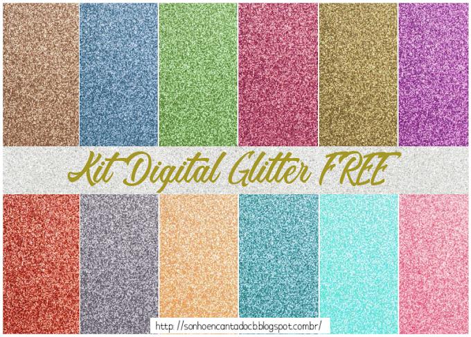kit digital Glitter  free