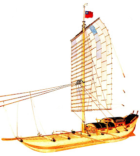 Ma-Yang-Tzu junk from Ships of China by Valentin A. Sokoloff