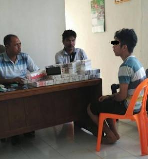 Pencuri dan Penadah Rokok Di Amankan Polisi