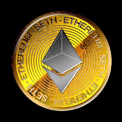 仮想通貨イーサリアムのフリー素材(金貨灰色ver)