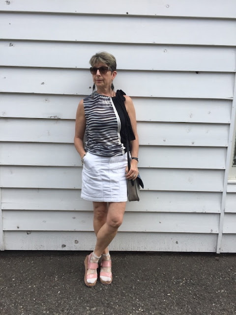 Wearing lacy socks with my open tow sandals, Japanese style