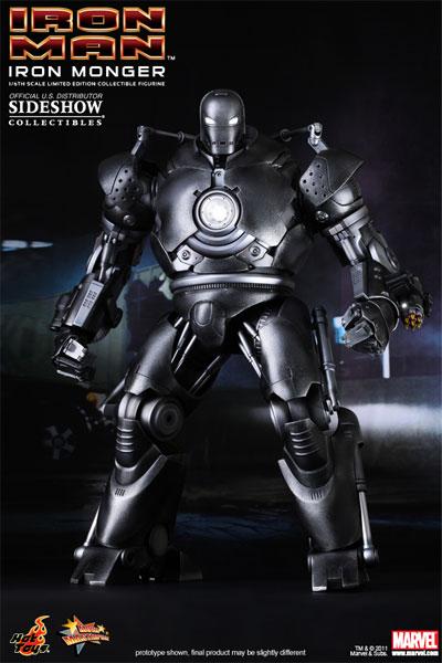 Hot Toys Iron Monger : monger, Angry, Koala, Gear:, Sideshow, Collectibles, Monger