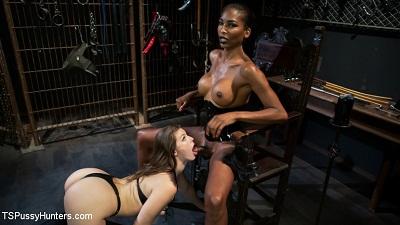 TS Pussy Hunters – Natassia Dreams' Slutty Leather Sex Kitten, Ella Nova