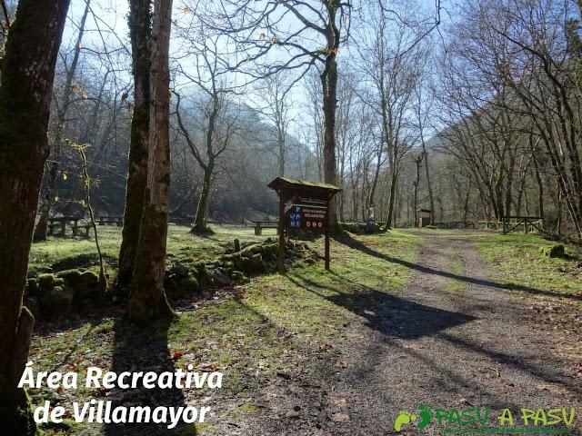 Senda del Chorrón y Foz del Río Valle: Area recreativa de Villamayor