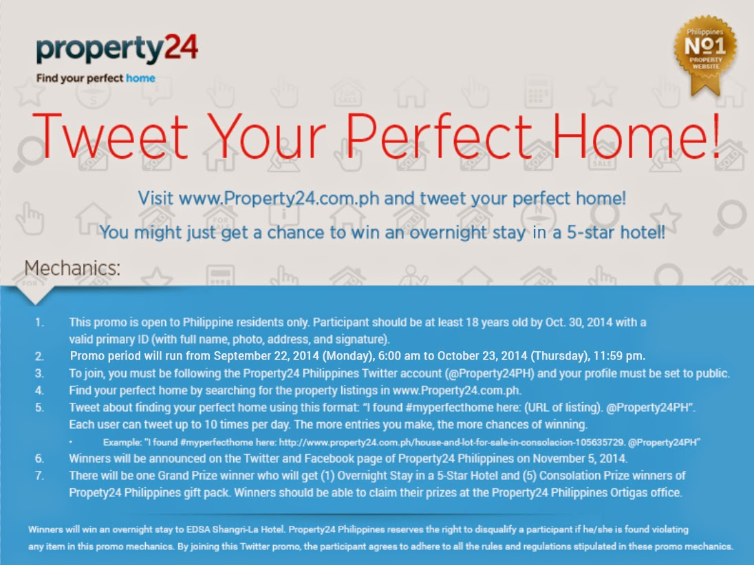 Find, Tweet Your Perfect Home from Property24 Philippines