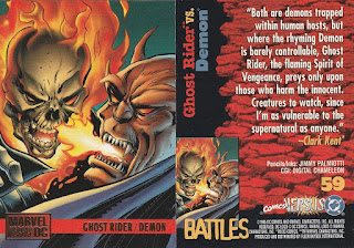 Ghost Rider vs Demon trading card from DC vs Marvel set