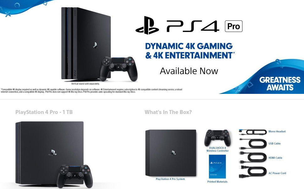 Sony PS4 Pro and PS4 Slim up for Pre-order on Flipkart