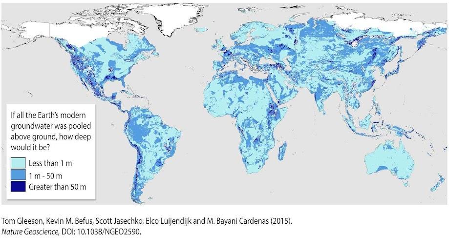 Este é o primeiro mapa-múndi das águas subterrâneas.