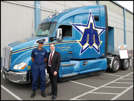 Joshua-Rice-Vallandingham and Brian-Matters with the Kenworth T680 Advantage